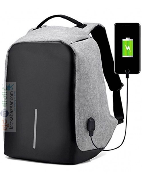 Anti-Theft Water Resistant Travel Backpack Suitable For Laptop, Camera, College Bag -Grey