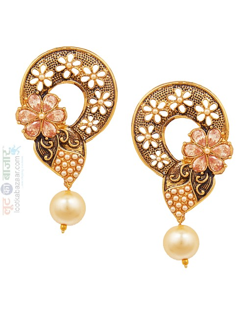 Antique Gold Plated Traditional Chandbali Earring For Women (JEGCB81806)