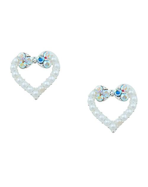 Korean Made Cubic Zirconia Heart Dailywear Stud Earring For Women (KDAJESS111808)