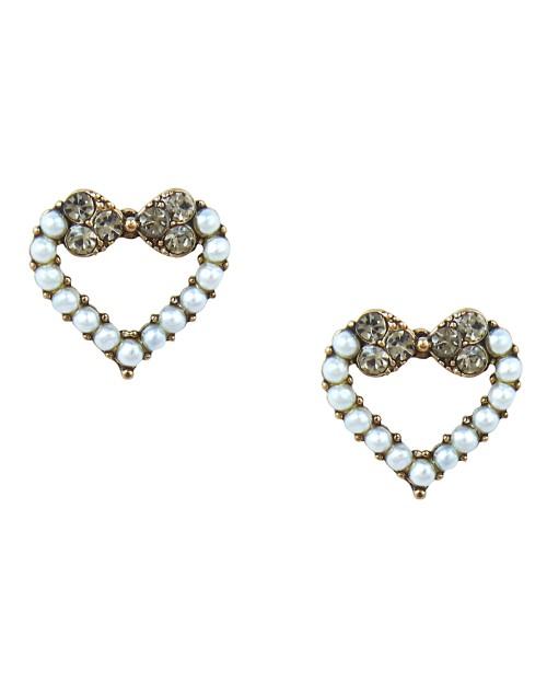Korean Made Cubic Zirconia Heart Dailywear Stud Earring For Women (KDAJESS111809)