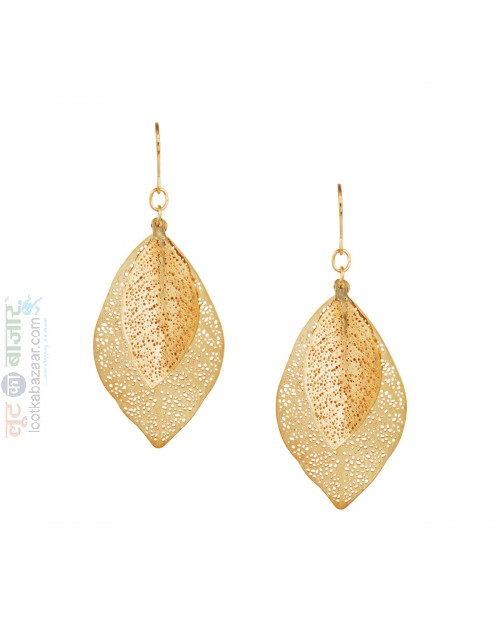 Korean Made Feather Drop Earring For Women