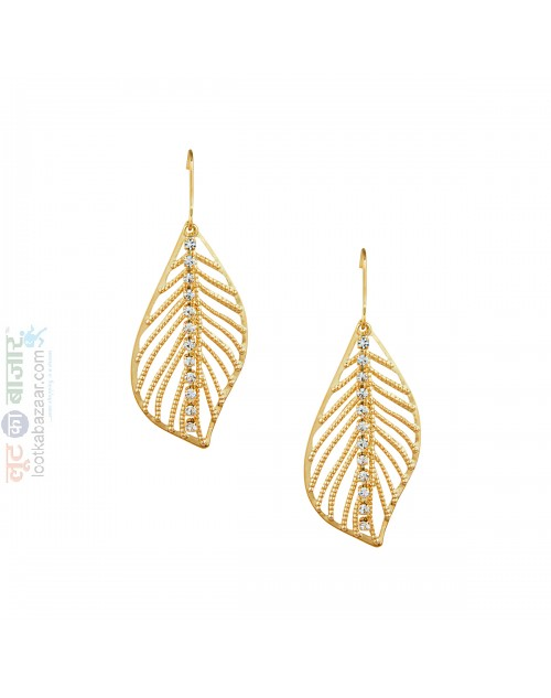 Korean Made Feather Drop Earring For Women (KSRJDES111831)