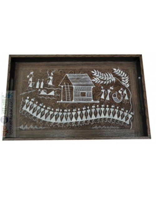 Serving Tray Warli