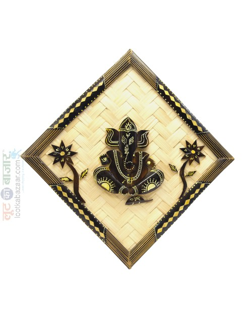 Hand Crafted Decorative Wooden Ganesha For Home Decor (SEHCWBG021902)