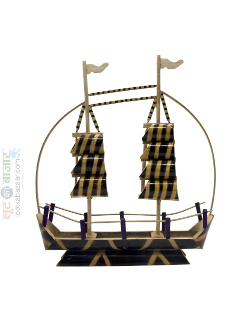 Hand Crafted Decorative Bamboo Boat For Home Decor (SEHCWBB021902)