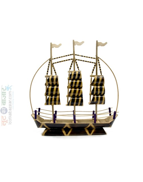Hand Crafted Decorative Bamboo Boat For Home Decor (SEHCWBB021903)