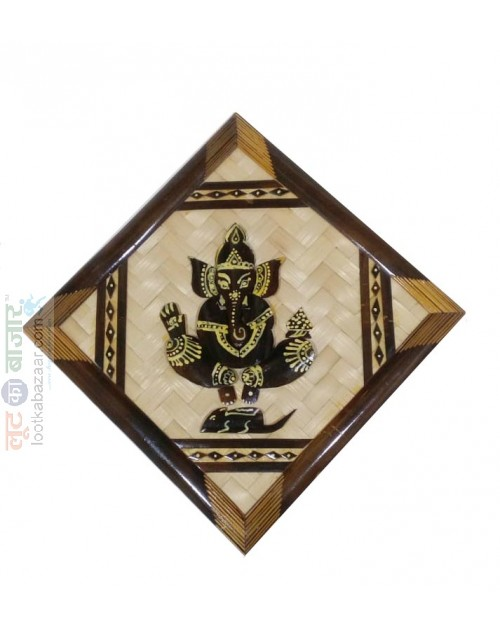 Hand Crafted Decorative Wooden Ganesha For Home Decor (SEHCWBG021904)