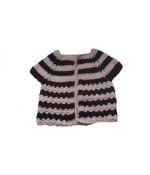 Handmade Woolen Baby Sweaters Black Frock
