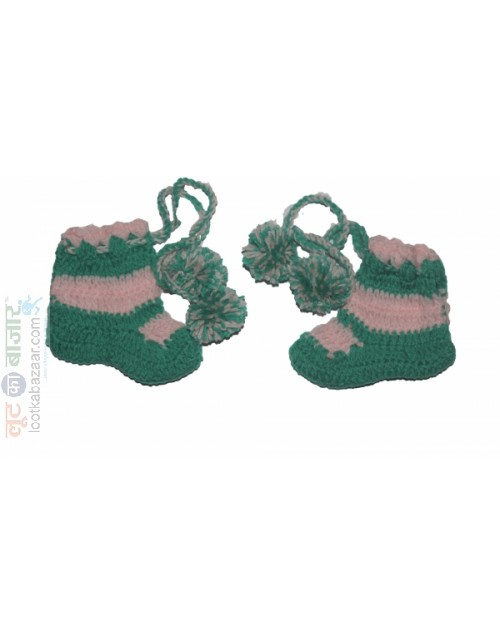 Handmade Woolen Baby Sweaters Crochet Socks