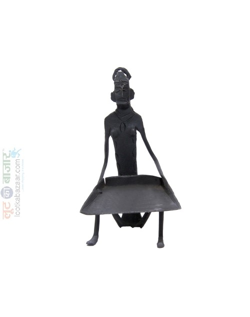 Hand Made Iron Metal Human Sculpture Decorative Show Piece For Home Decor (SEIHD021901)
